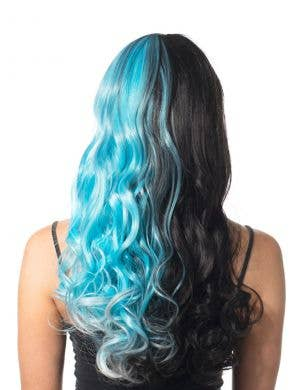 Aria Black and Aqua Split Curls Wig