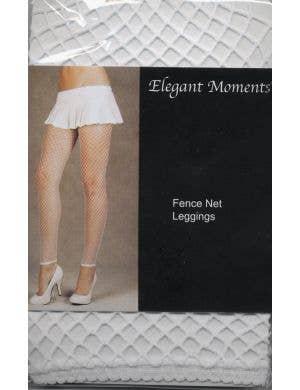 Fence Net Plus Size Leggings in White