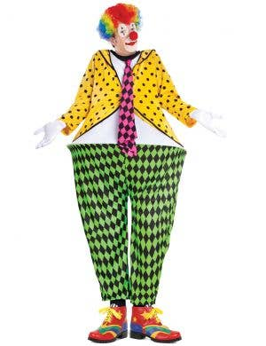 Deluxe Rainbow Coloured Men's Clown Shoes