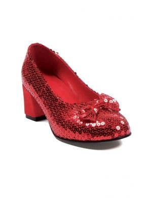 Judy Women's Sequined Red Platform Heel Costume Shoes