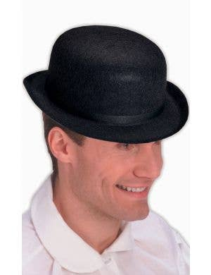 Derby Black Men's Bowler Hat Costume Accessory