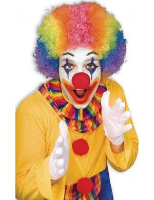 Multicoloured Men's Clown Afro Wig