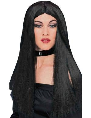 Long Straight Black Women's Halloween Wig