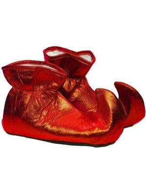 Metallic Red Adults Christmas Elf Shoes