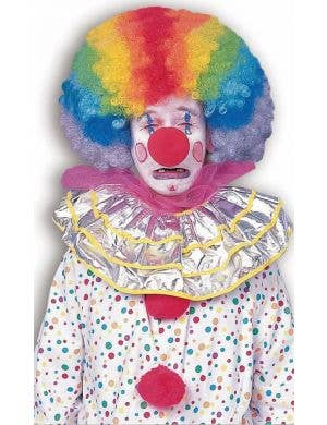 Jumbo Rainbow Afro Clown Adult's Costume Wig