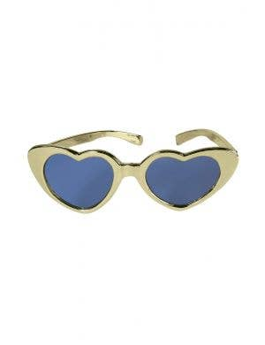 XLarge Heart Shaped Sunglasses - Gold