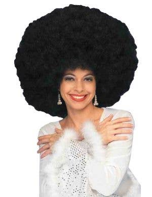 70s Giant Black Afro Women's Wig