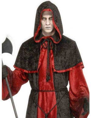 Demons and Devils Men's Red and Black Deluxe Costume Robe