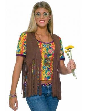 Faux Suede Women's 60's Hippie Vest