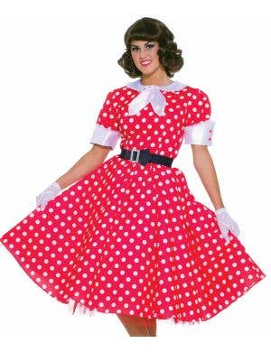 1950's Red Polka Dot Housewife Women's Costume