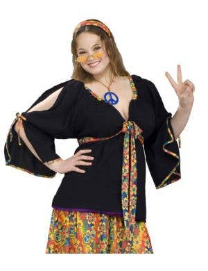 Groovy Mamma Women's Plus Size Hippie Costume