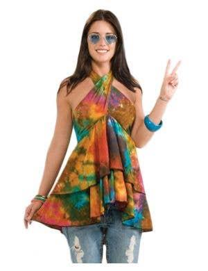 Ruffled Hippie Halterneck Costume Top
