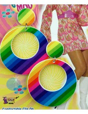 60's Rainbow Mod Earrings