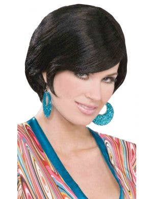 Mod Black Brit Bob Women's Costume Wig