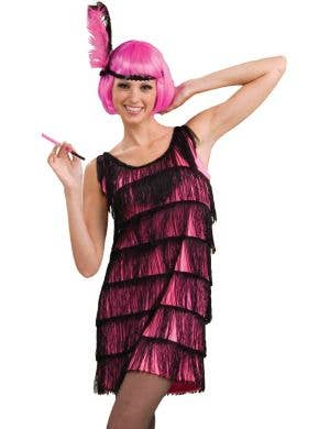 Jazzy Pink Flapper 1920's Women's Costume