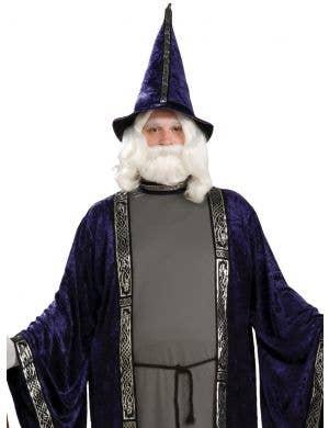 Deep Purple Velvet Merlin Wizard Costume - Plus Size