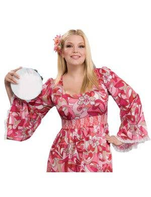 Flower Child Women's 1970's Plus Size Hippie Costume