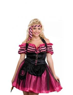 Pink Pirate Plus Size Women's Costume