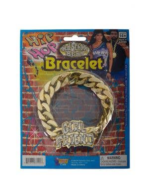 Girlfriend Old School Hip Hop Chain Costume Bracelet