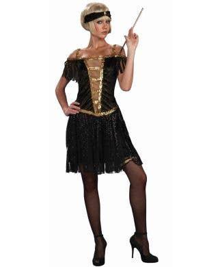 Golden Glamorous Flapper Women's 1920s Costume