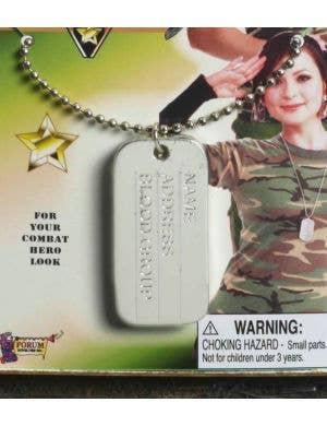 Military Dog Tag Costume Accessory