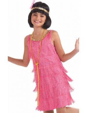 1920's Pink Flapper Girls Costume