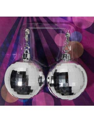 70's Disco Ball Costume Earrings