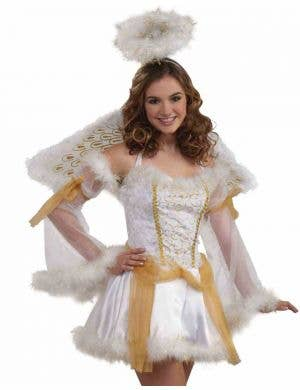 Golden Angel Teen Girls Christmas Costume