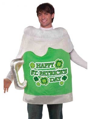 Happy St Patrick's Day Beer Mug Adult's Costume