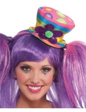 Circus Sweetie Rainbow Mini Top Hat