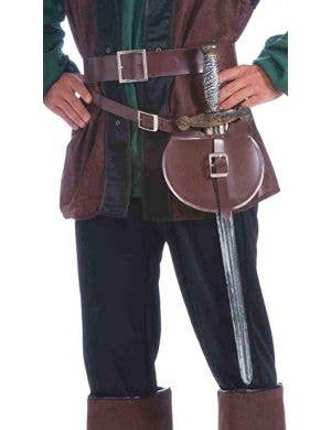 Medieval Belt with Pouch and Sword Costume Accessory
