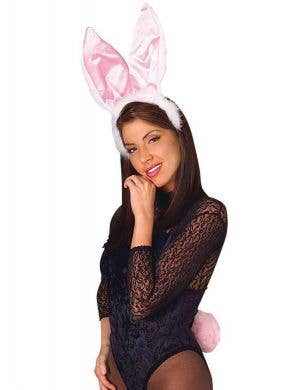 Bunny Ears and Tail Set - White and Pink