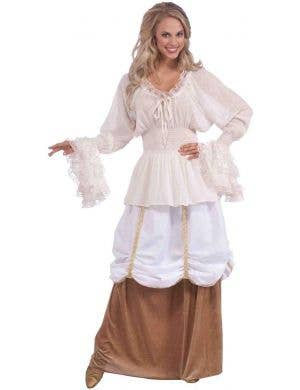 Medieval White Costume Blouse