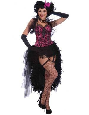 Burlesque Pink and Black Women's Corset