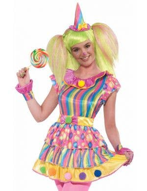 Polka Dot Clown Teen Girls Costume
