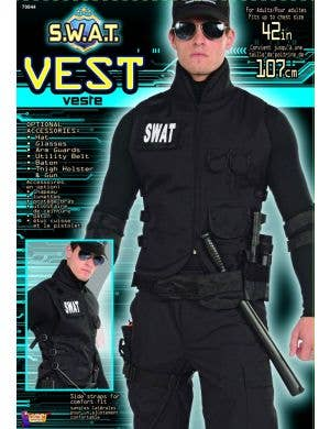 SWAT Commander Men's Costume Vest