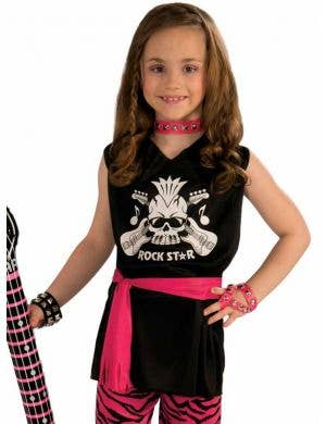 1980's Rock Chick Girls Dress Up Costume