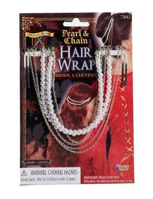 Pearl & Chain Medieval Fantasy Hair Wrap Accessory