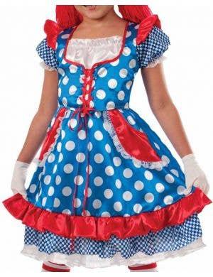 Raggedy Ann Girls Fancy Dress Costume