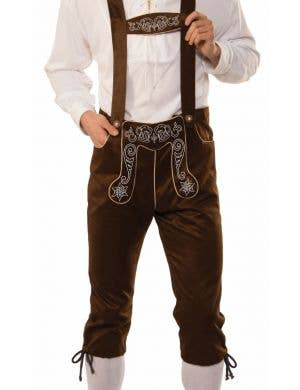German Brown Lederhosen Men's Oktoberfest Costume