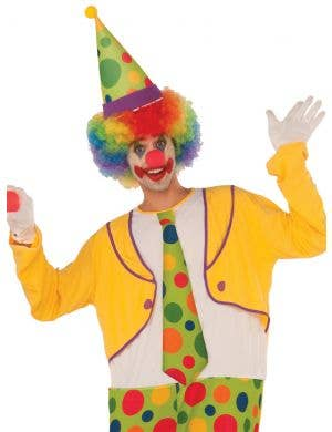 Colourful Yellow Spotty Novelty Adult's Clown Costume