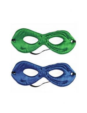 Superhero Kids Reversible Green and Blue Costume Mask Accessory