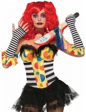Evil Clown Women's Halloween Costume Corset