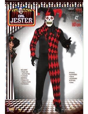 Freaky Jester Men's Halloween Fancy Dress Costume