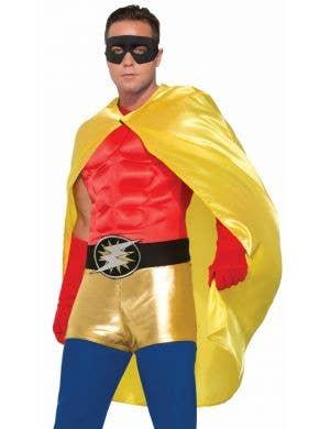 Superhero Adults Costume Accessory Cape - Yellow