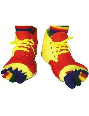 Clown Shoes and Toe Socks Costume Set