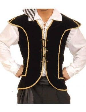 Buccaneer Pirate Men's Costume Vest