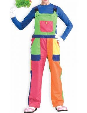 Circus Clown Deluxe Costume Overalls