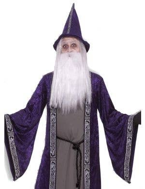 Deep Purple Velvet Merlin Wizard Costume