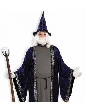 Deep Purple Velvet Merlin Wizard Costume - Plus Size